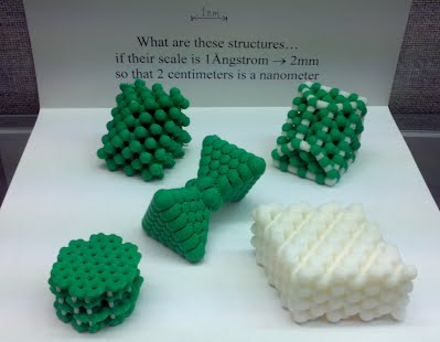 Some nanostructure models printed in three dimensions.