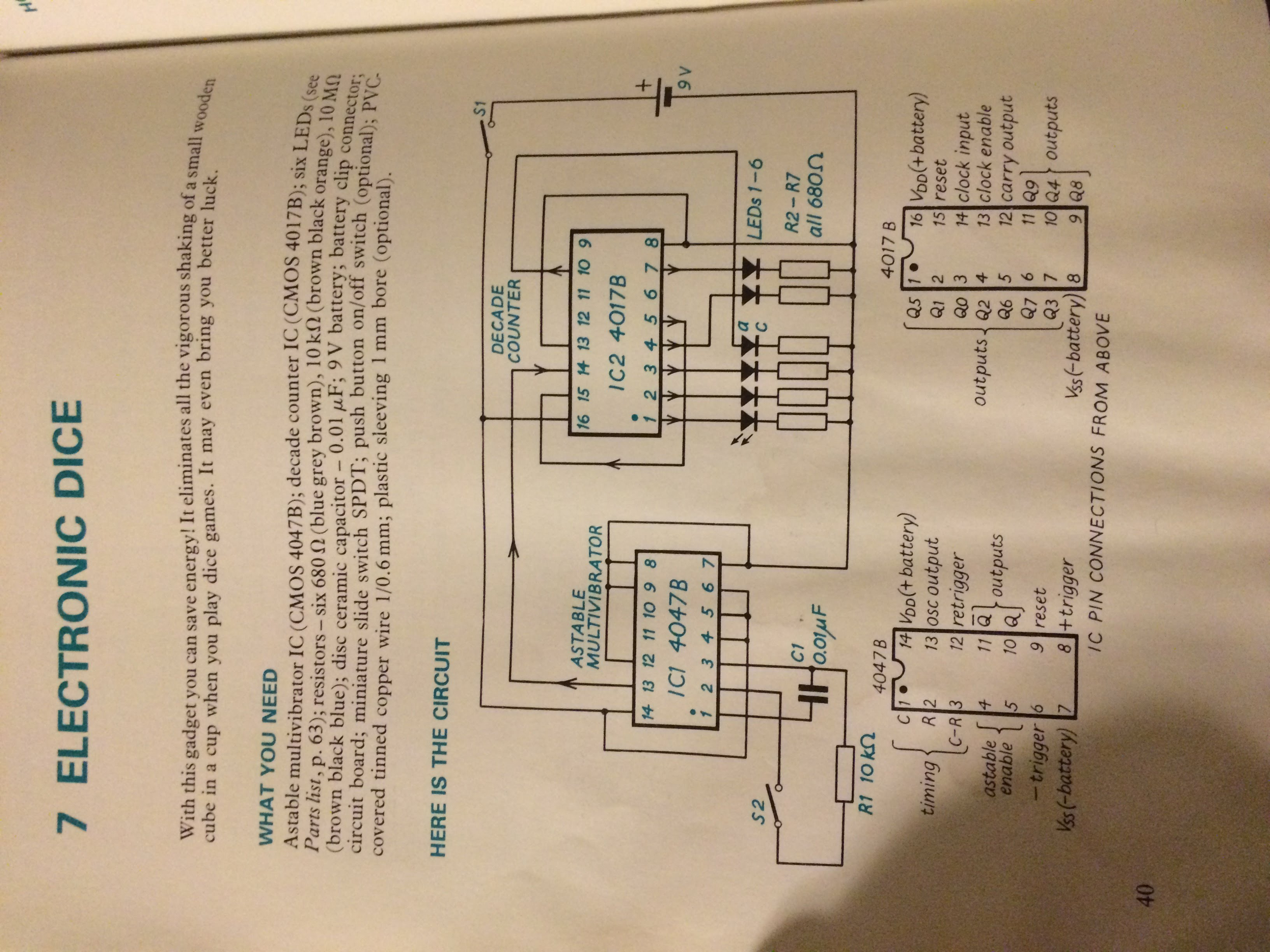 Electronic Dice Fc Circuit Diagram Of Electronics Counter Decade Welcome To The Project Page