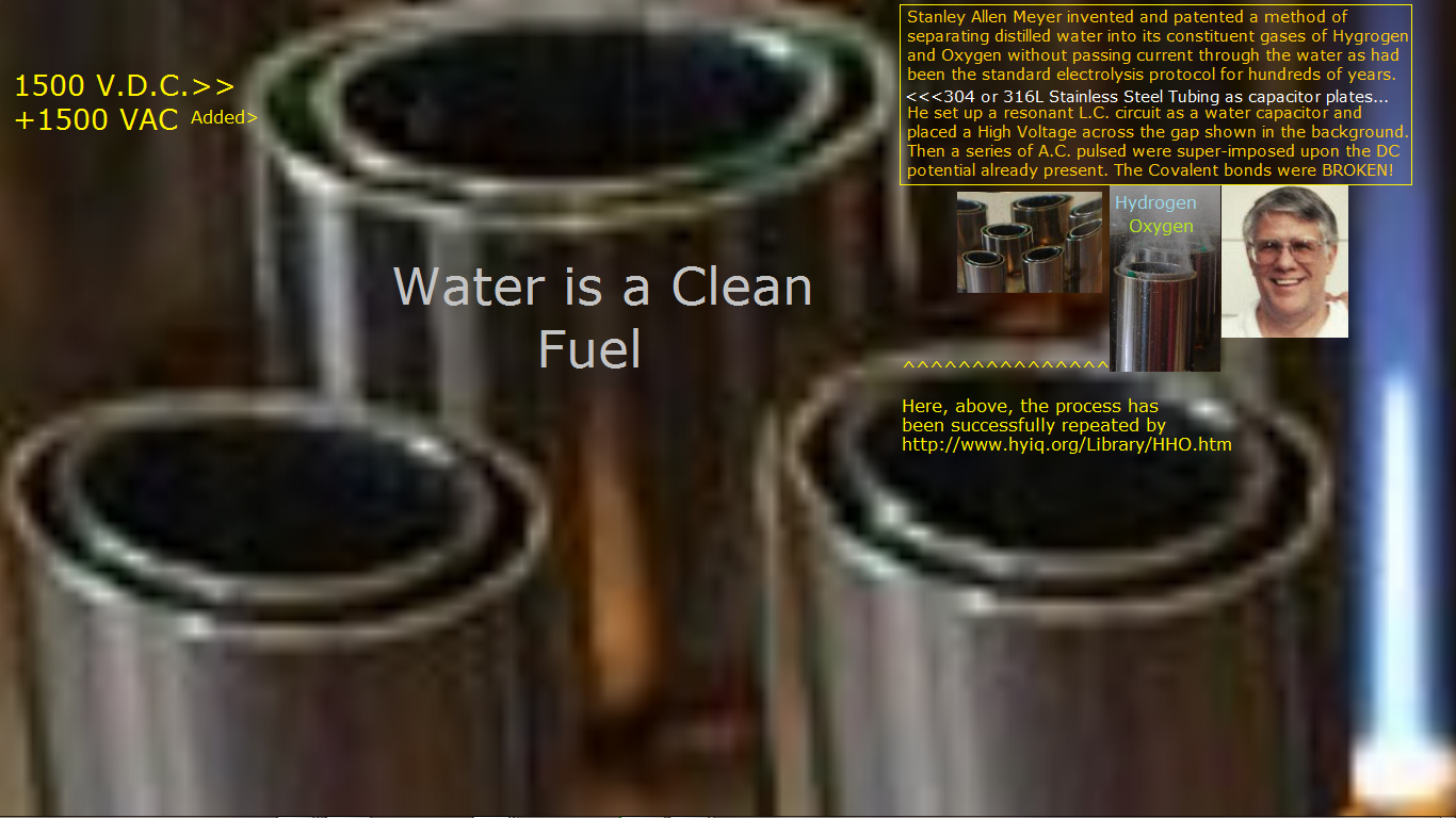 Stanley Allen Meyer Stanley Meyer HHO Burning Water as a Clean Recyclable Fuel for Free