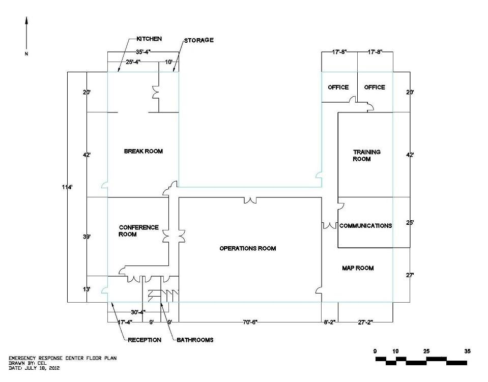 Floor plan emergency response center 1 for Copy architectural plans