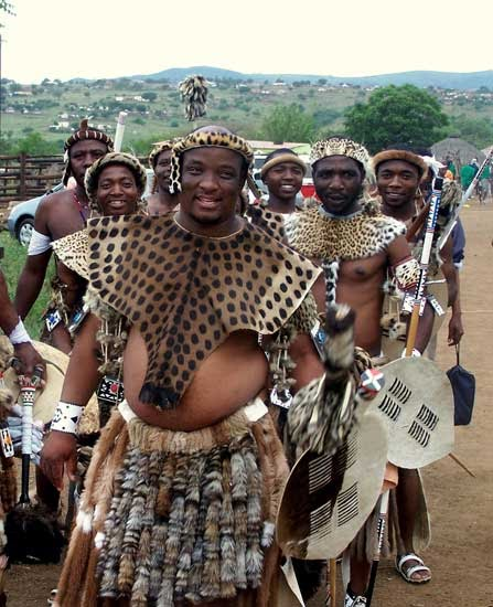 Zulu Men At Wedding