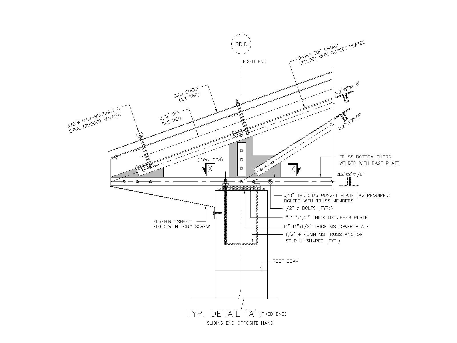 Roof truss end support details waqar ahmad malik for Roof drawing software