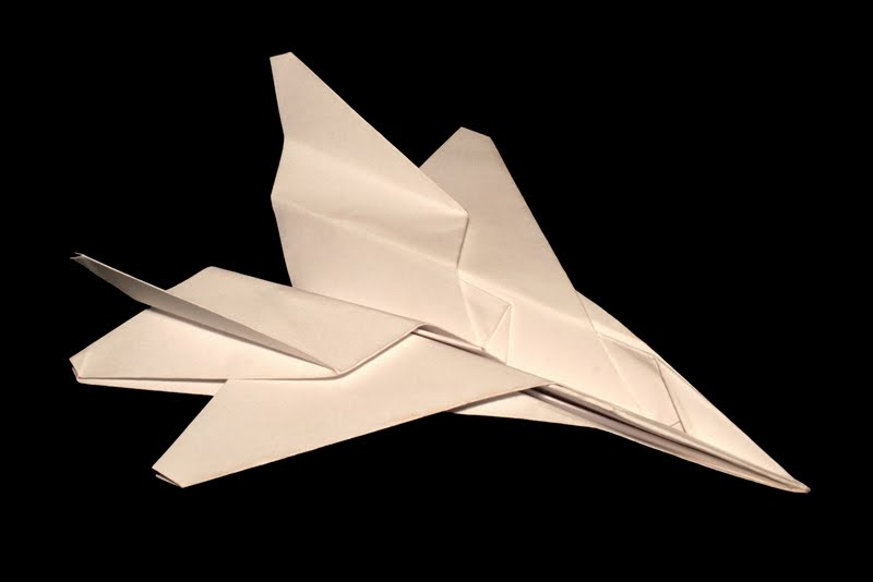 How To Make Paper Airplane - Easy Paper Plane Origami Jet Fighter ... | 534x800