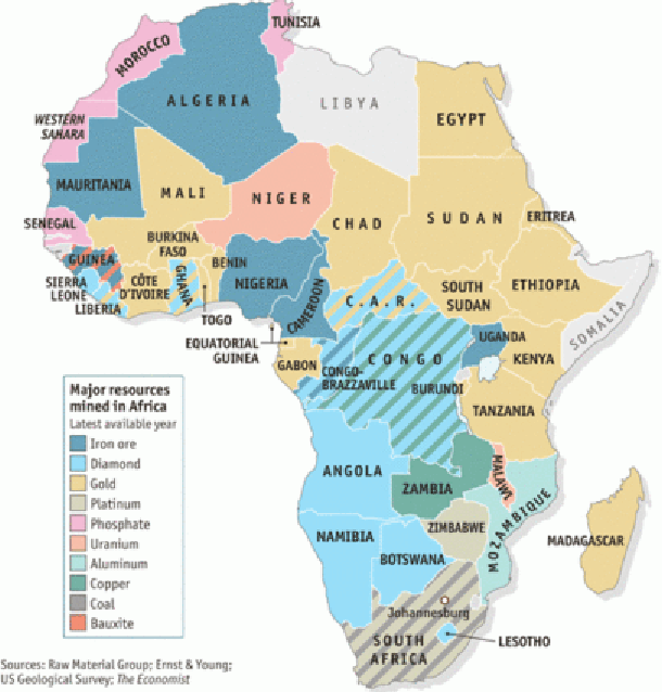 Africa Natural Resources Environment For Kids - Map of egypt's natural resources
