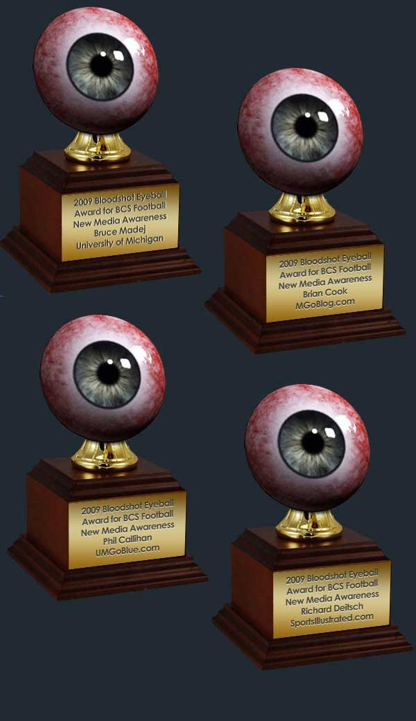 2009 Bloodshot Eyeball Award for BCS Football New Media Awareness