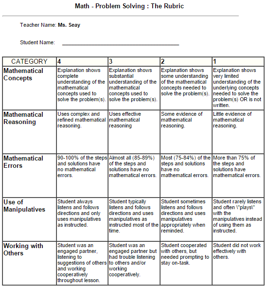 How to make a rubric?