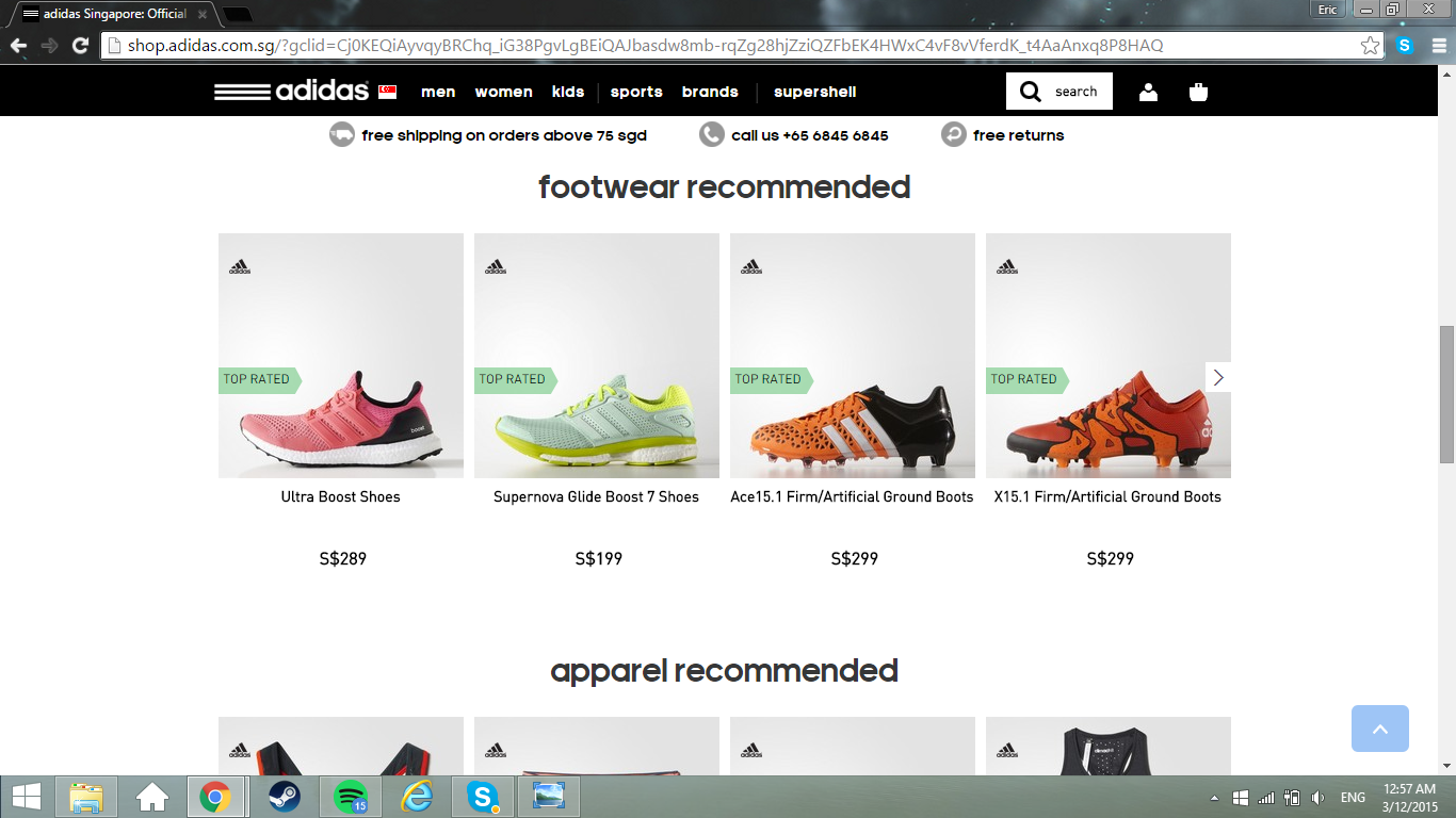 adidas official site