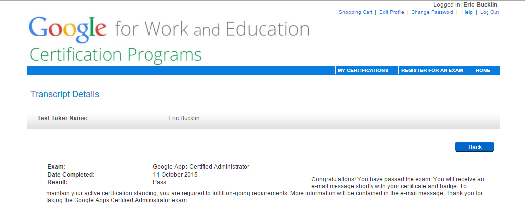Cerebration: Google Apps Admin Certification Training and Thoughts