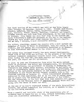 First National Council meeting 1-9-60
