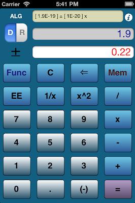 ErrorCalc: iPhone/iPad Error Analysis Calculator