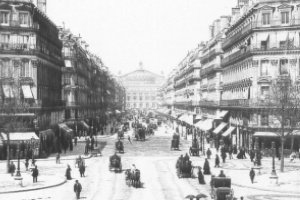 Avenue de l'Opera, Paris en 1900