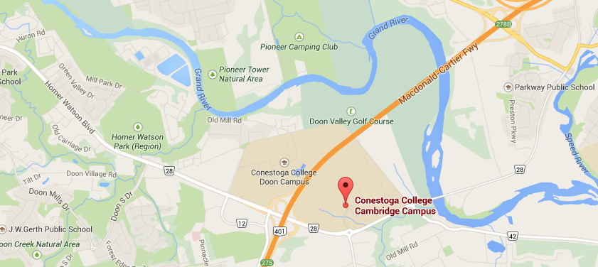 Conestoga College Map College Info / Map   Day with a Difference 2019