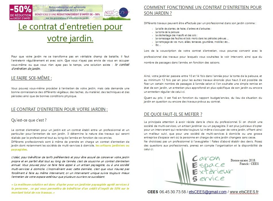 Cees for Entreprise jardinage