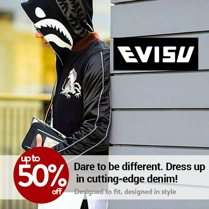 a45b200885c6 http   ow.ly HGfqu. Get Unbeatable 57% discount on All products at Evisu
