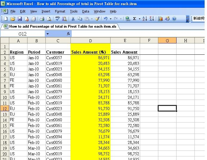 how to refresh a pivot table with a macro