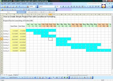 how to create simple project plan with conditional formatting