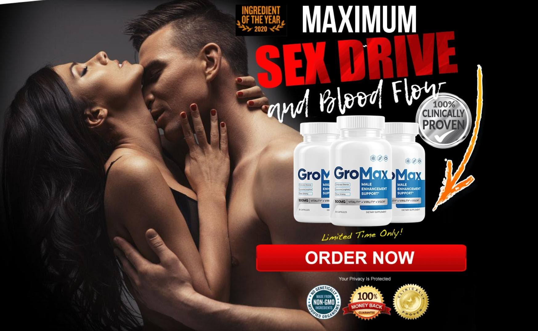GroMax Male Enhancement Support *GroMax Pills*Increase Blood Flow & Elevate Physical Performance! - Pills Offer