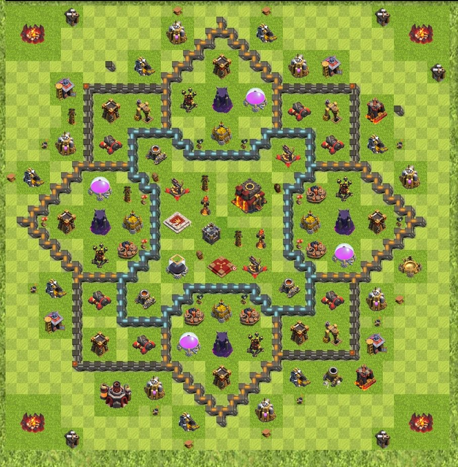 Map Clash Of Clans War Map Layouts   Clash of Clans