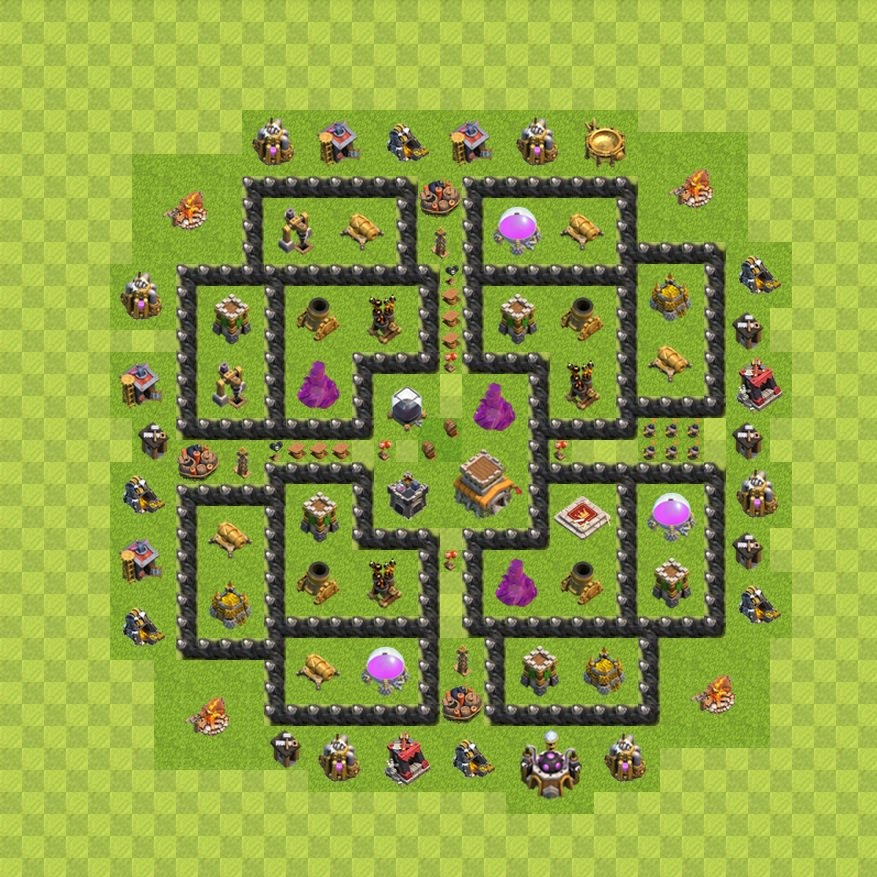 War map layouts clash of clans