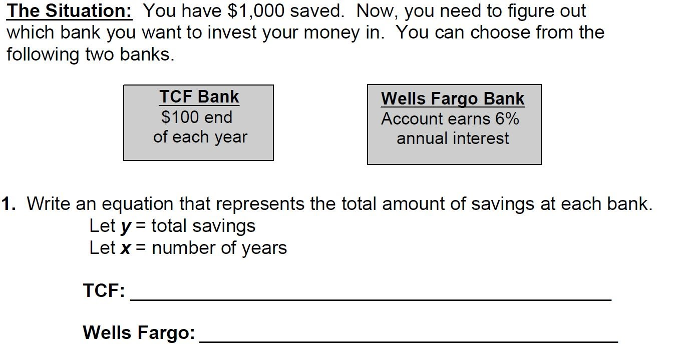 Exponential functions ccs joelyne claimed it is better to bank at tcf bruce said it is better at wells fargo which do you agree with and why falaconquin