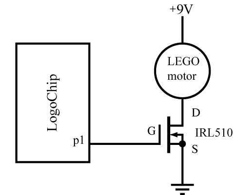 Logochip challenges wellesley extd160 introduction to engineering you can remedy this situation by wiring a transistor to power a lego motor as shown below asfbconference2016 Images