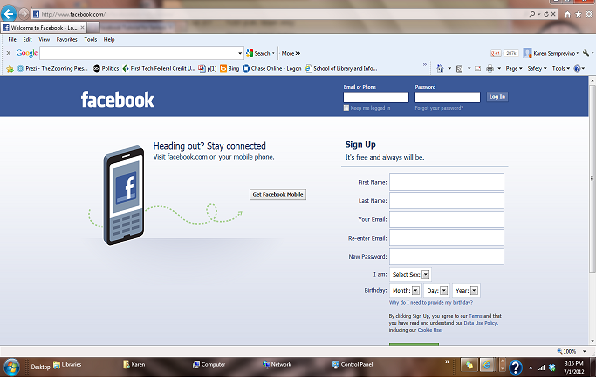 my facebook sign in login