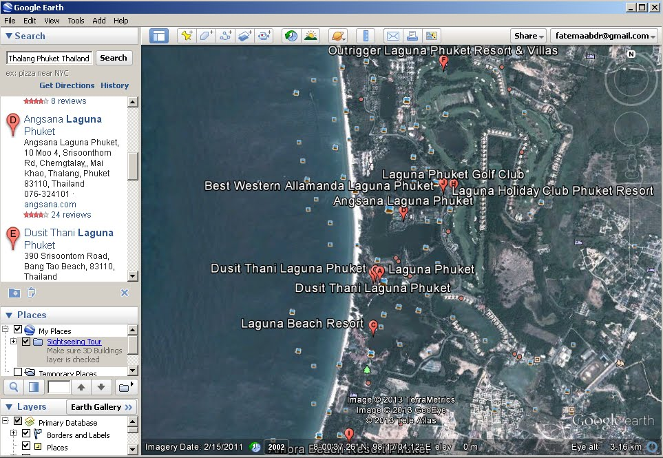 Google earth fatima alawadi in the picture above you can see an aerial view of laguna phuket now i was staying in angsana laguna phuket this picture tells me that i can visit the gumiabroncs Images