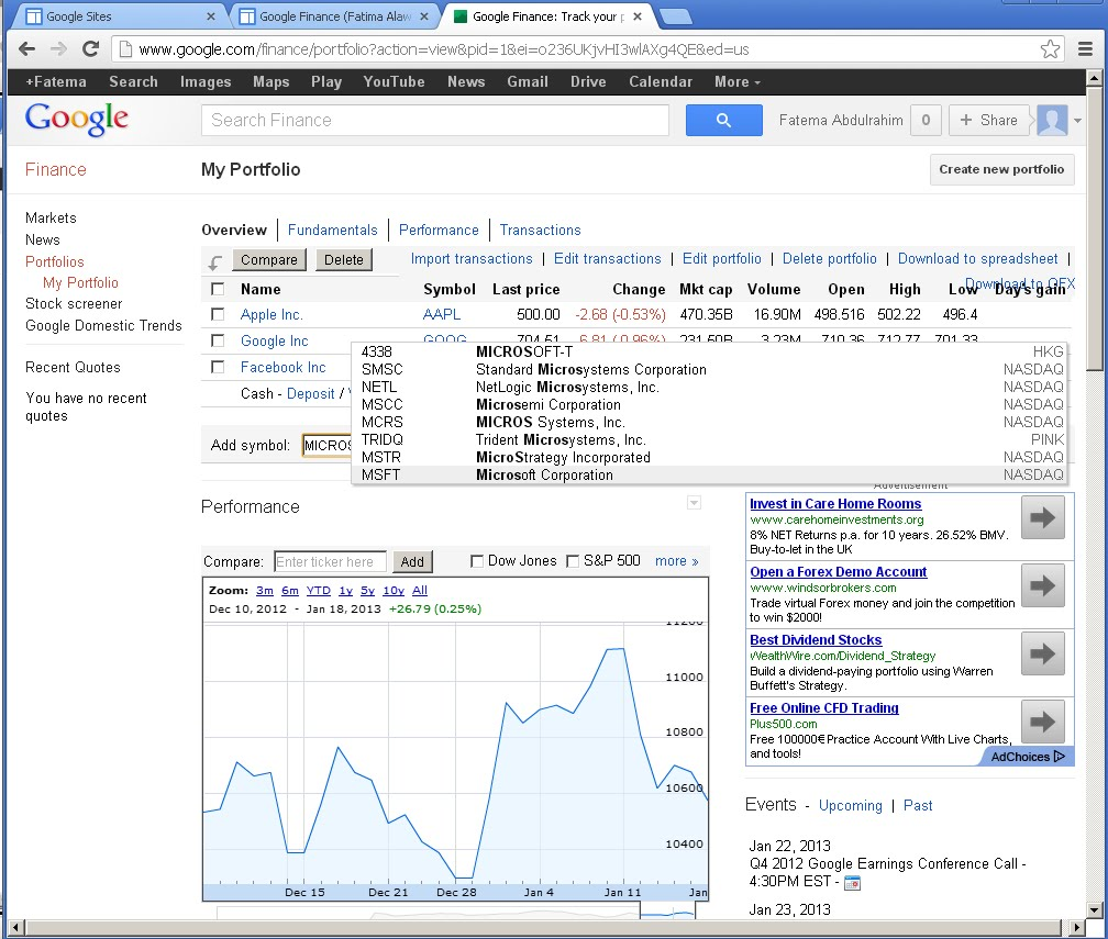 google and yahoo financial performance Financial news, quotes, charts, and more.