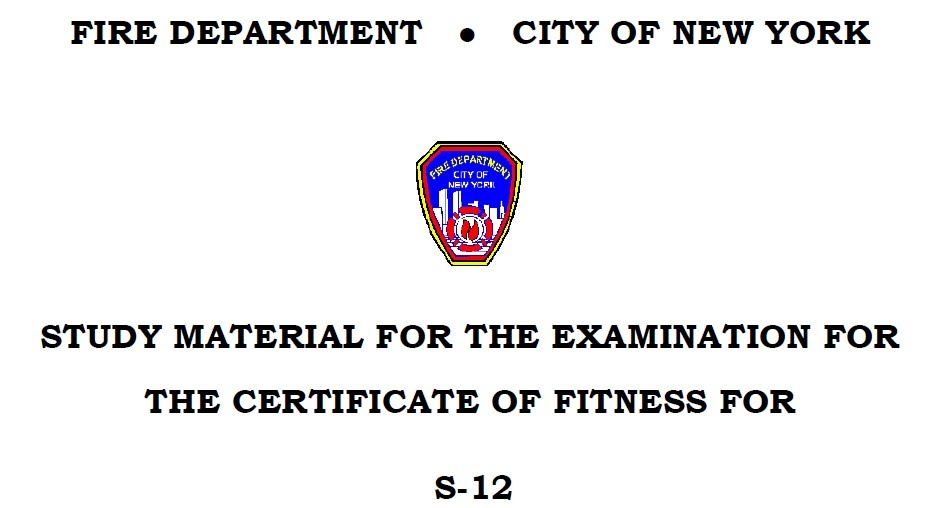 Consolidated Study Material F-98 - Welcome to NYC.gov