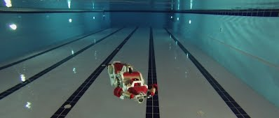 AUV in a swimming pool