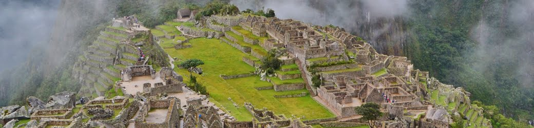 Ruins of Machu Picchu in Peru