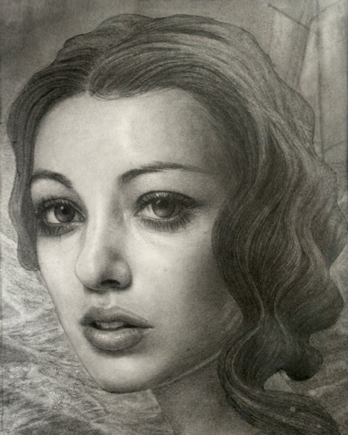portrait drawing by artist kris lewis