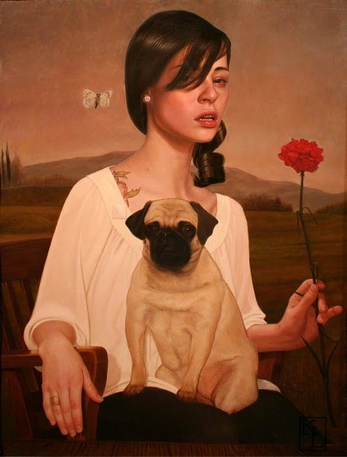 figurative painting with pets