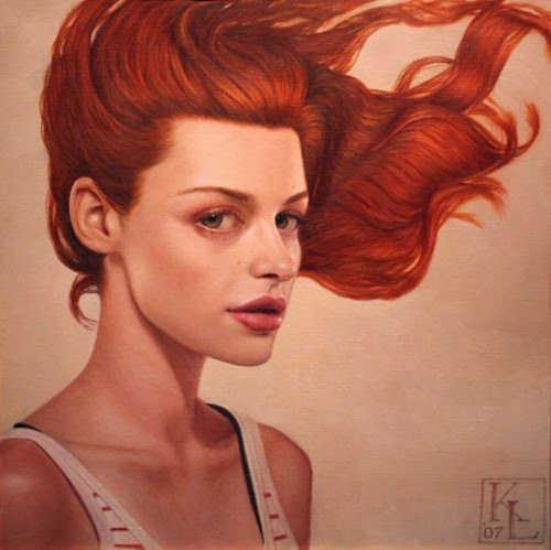 oil painting by kris lewis with the wind