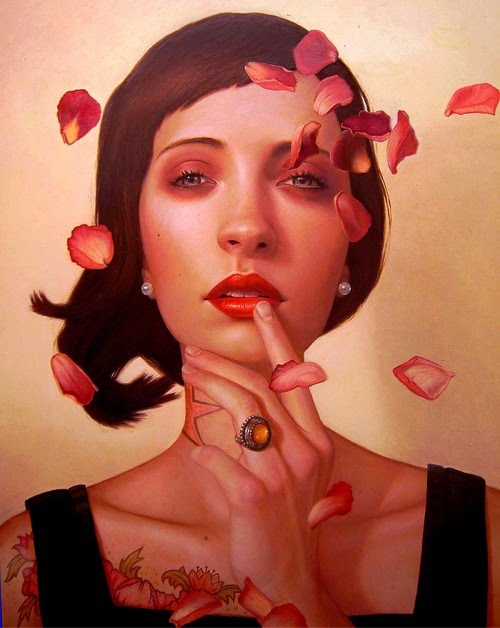 rose zephyr figurative portrait oil painting by kris lewis