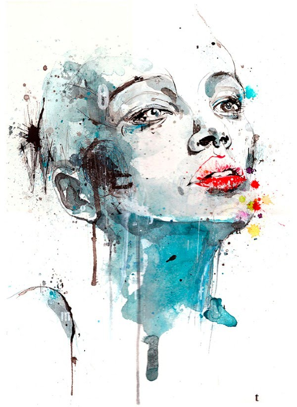 colorful portrait illustration of woman