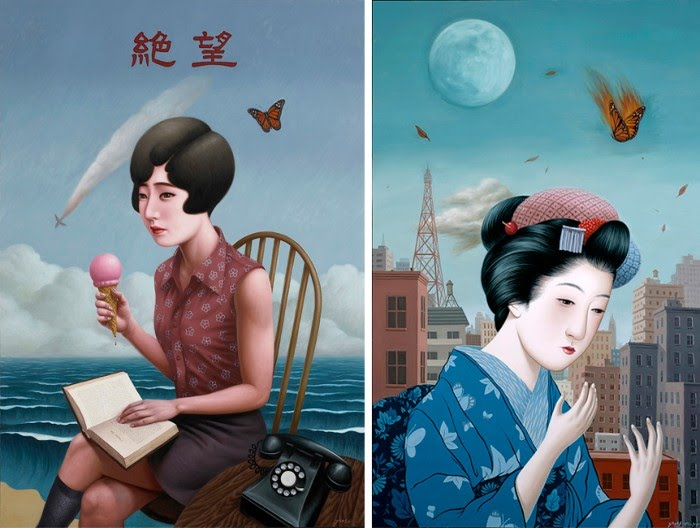 figurative paintings japanese women