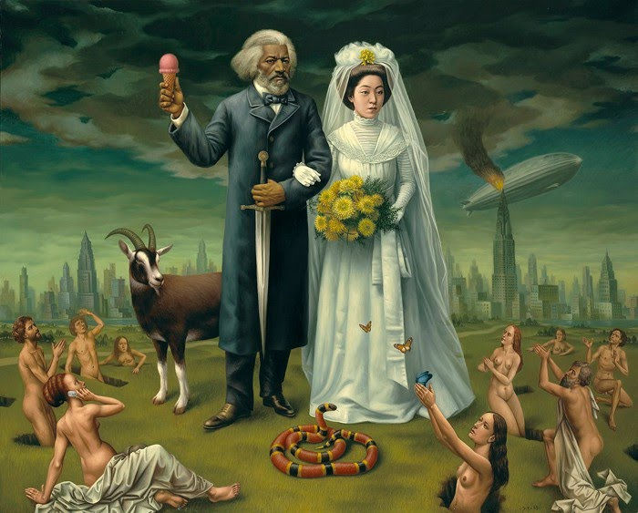 surreal painting wedding
