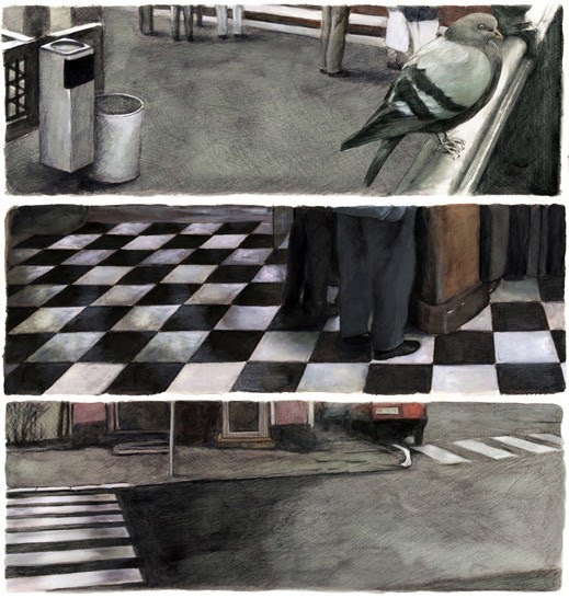 realistic illustrations bird floors road