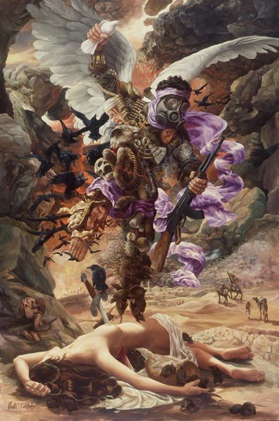 painting religious intolerance and war