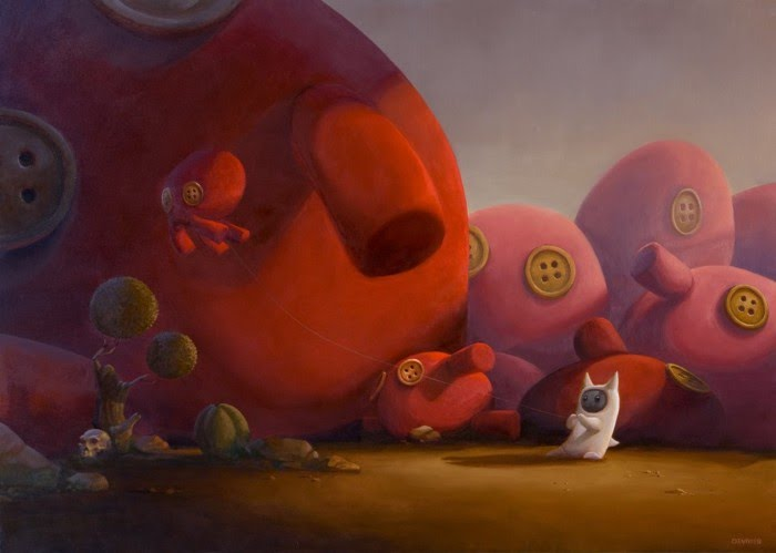 stuffed animal fantasy paintings
