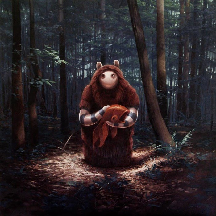 surreal fantasy character painting mother and child