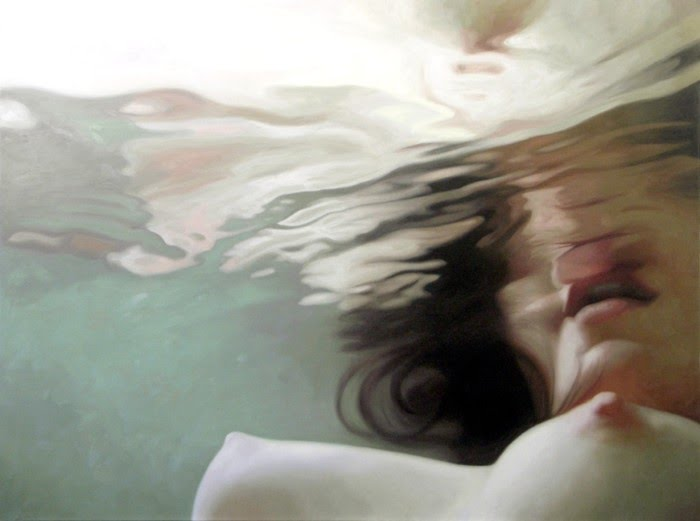 nude painting of a girl in a bathtub by artist alyssa monks