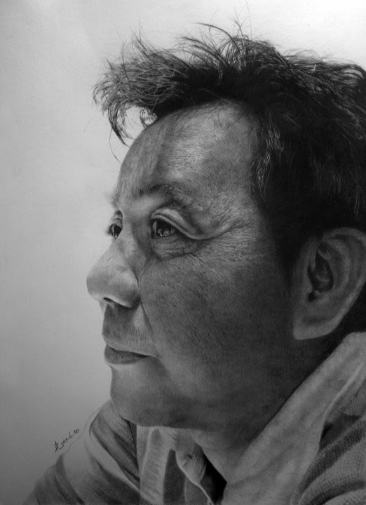 pencil drawing mans profile