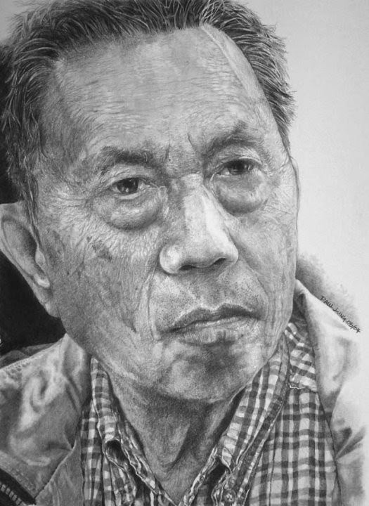 hyper realist drawing of a chinese man