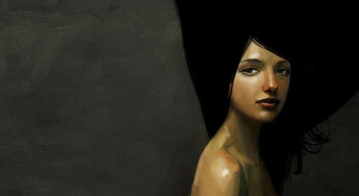 female figurative graphic illustration by benoit godde