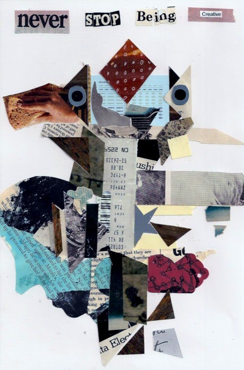 cut out collage art