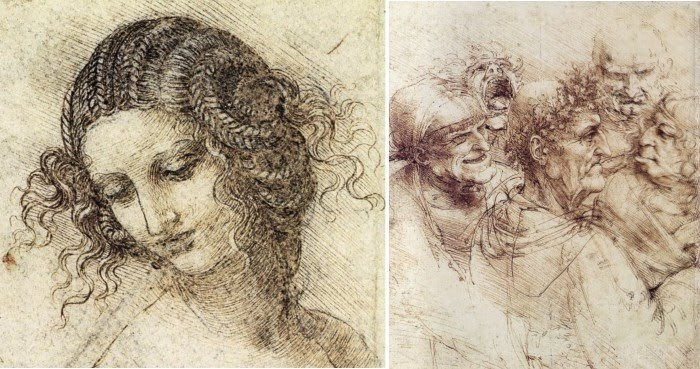 figure drawings leonardo da vinci