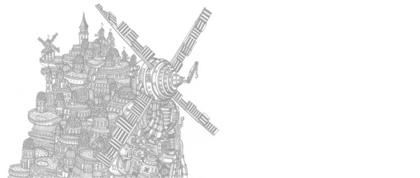 drawing giant windmill city