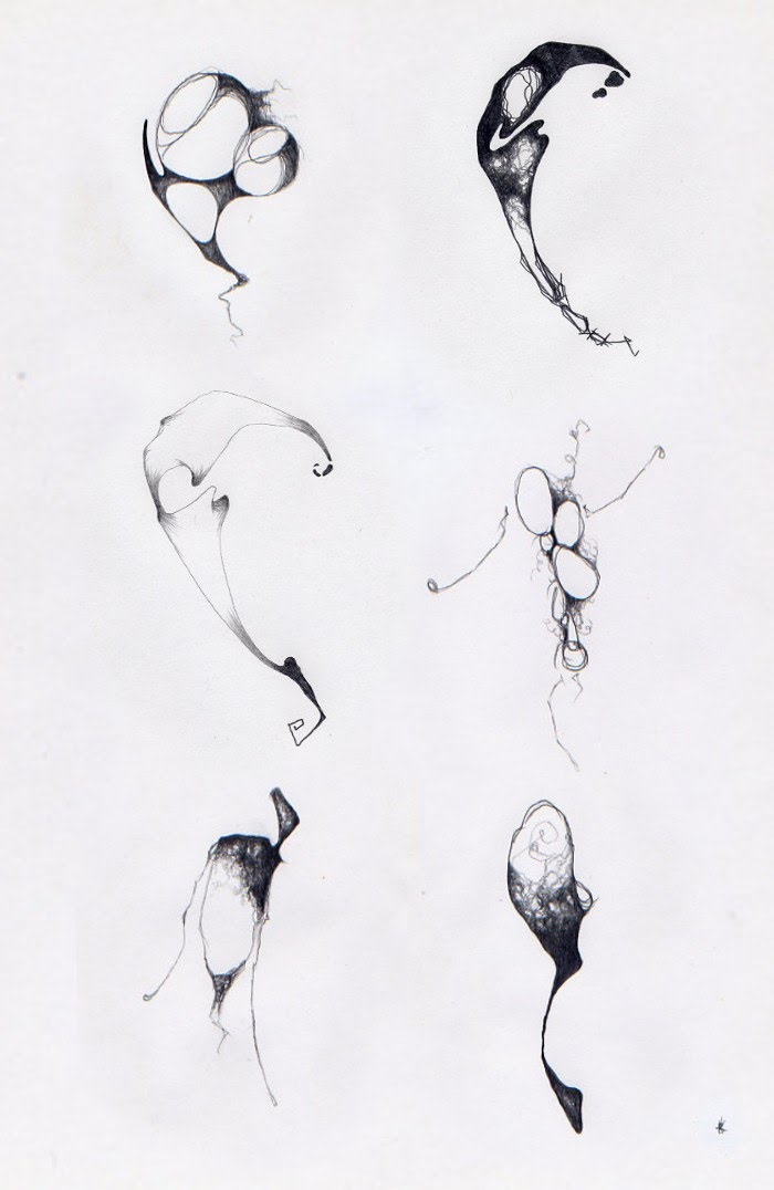 abstract line drawings by ross kerr